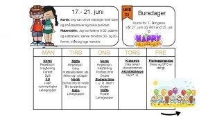 17 21 juni Norsk Jeg kan skrive setninger
