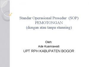 Standar Operasional Prosedur SOP PEMOTONGAN dengan atau tanpa