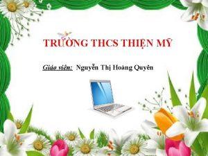 TRNG THCS THIN M Gio vin Nguyn Th