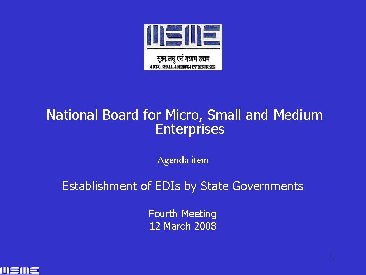 National Board for Micro Small and Medium Enterprises