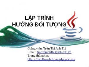 LP TRNH HNG I TNG Ging vin Trn