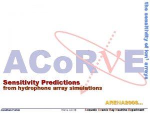 the sensitivity of km 3 arrays Sensitivity Predictions