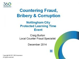 Countering Fraud Bribery Corruption Nottingham City Protected Learning