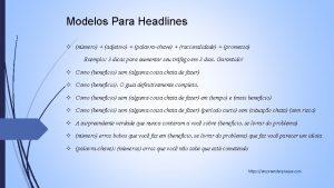 Modelos Para Headlines nmero adjetivo palavrachave racionalidade promessa