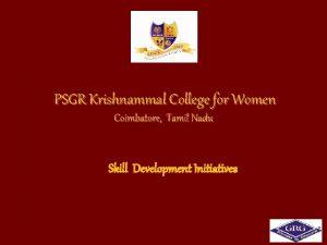 PSGR Krishnammal College for Women Coimbatore Tamil Nadu