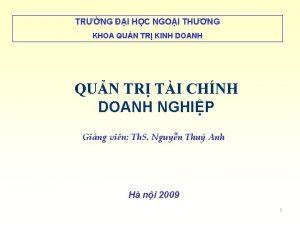 TRNG I HC NGOI THNG KHOA QUN TR