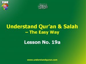 Understand Quran Salah The Easy Way Lesson No