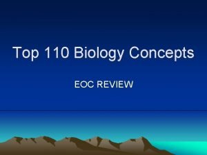 Top 110 Biology Concepts EOC REVIEW Questions 1
