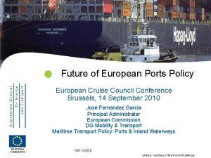 Future of European Ports Policy European Cruise Council