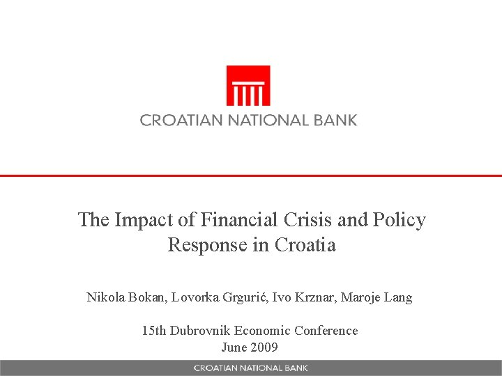 The Impact of Financial Crisis and Policy Response