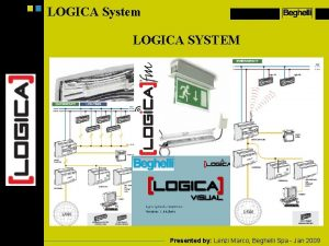 LOGICA System LOGICA SYSTEM Presented by Lenzi Marco