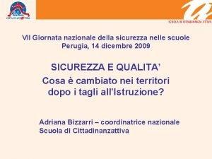 VII Giornata nazionale della sicurezza nelle scuole Perugia