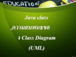 Java class Class Diagram UML Class Diagram Example