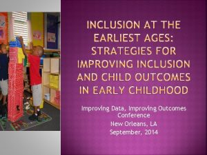 Improving Data Improving Outcomes Conference New Orleans LA