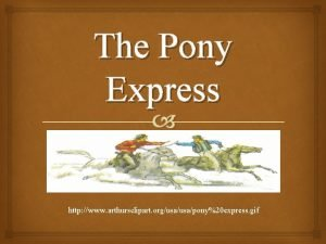 The Pony Express http www arthursclipart orgusapony20 express