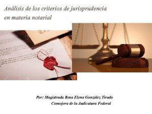 Anlisis de los criterios de jurisprudencia en materia