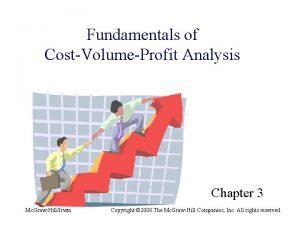 Fundamentals of CostVolumeProfit Analysis Chapter 3 Mc GrawHillIrwin