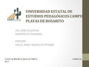 UNIVERSIDAD ESTATAL DE ESTUDIOS PEDAGGICOS CAMPUS PLAYAS DE