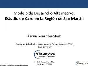 Modelo de Desarrollo Alternativo Estudio de Caso en