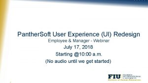 Panther Soft User Experience UI Redesign Employee Manager