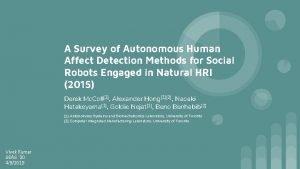 A Survey of Autonomous Human Affect Detection Methods