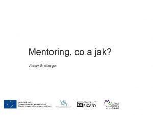 Mgr Vclav neberger Mentoring co a jak Vclav