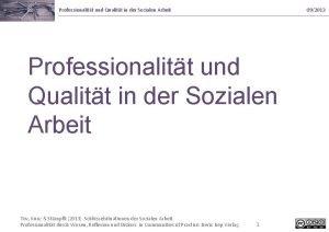 Professionalitt und Qualitt in der Sozialen Arbeit 092013