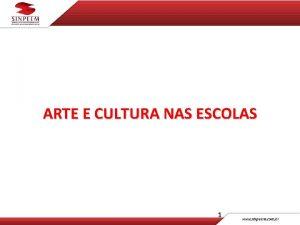 ARTE E CULTURA NAS ESCOLAS 1 ONDE TUDO