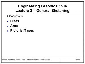 Engineering Graphics 1504 Lecture 2 General Sketching Objectives