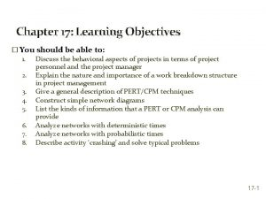 Chapter 17 Learning Objectives You should be able