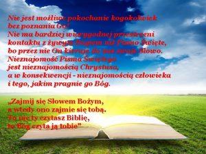 Nie jest moliwe pokochanie kogokolwiek bez poznania Go