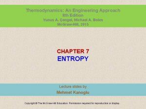 Thermodynamics An Engineering Approach 8 th Edition Yunus