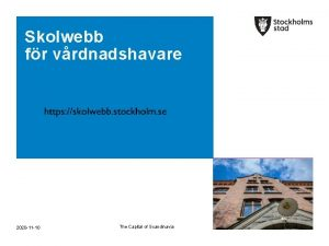Skolwebb fr vrdnadshavare https skolwebb stockholm se 2020