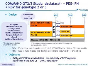 COMMAND GT 23 Study daclatasvir PEGIFN RBV for