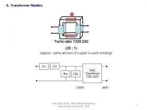 3 Transformer Models Turns ratio 7200 240 30