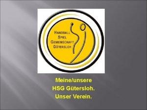 Meineunsere HSG Gtersloh Unser Verein Was tut mein