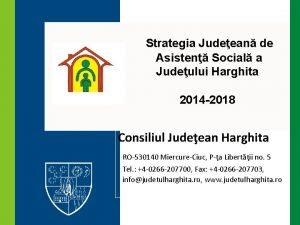 Strategia Judeean de Asisten Social a Judeului Harghita