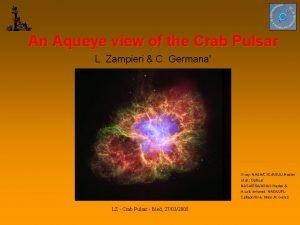An Aqueye view of the Crab Pulsar L