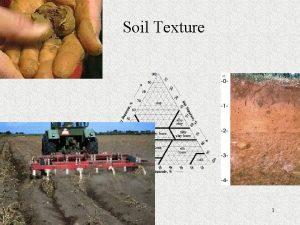 Soil Texture 1 What is Soil Texture Soil