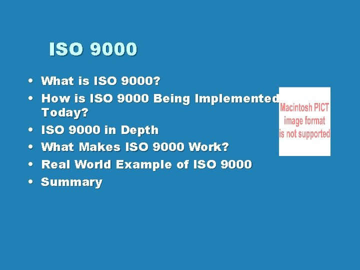 ISO 9000 What is ISO 9000 How is