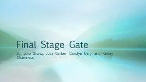 Final Stage Gate By Julia Sturtz Julia Garber