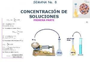 SEMANA No 8 8 CONCENTRACIN DE SOLUCIONES PRIMERA
