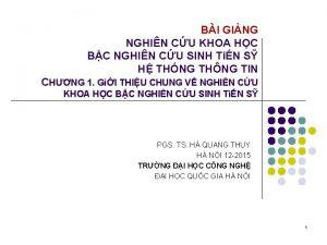 BI GING NGHIN CU KHOA HC BC NGHIN