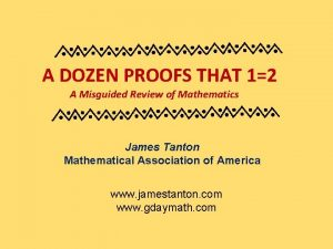 A DOZEN PROOFS THAT 12 A Misguided Review