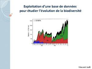 Exploitation dune base de donnes pour tudier lvolution