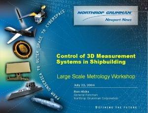 0 Copyright 2004 Northrop Grumman Corporation Control of