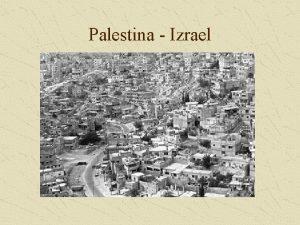 Palestina Izrael Pina konfliktu Zpas o kontrolu zem
