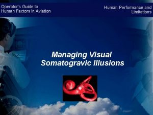 Operators Guide to Human Factors in Aviation Human
