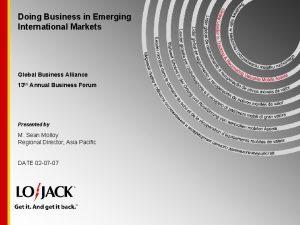 Doing Business in Emerging International Markets Global Business