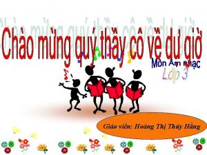 Gio vin Hong Th Thy Hng KIM TRA